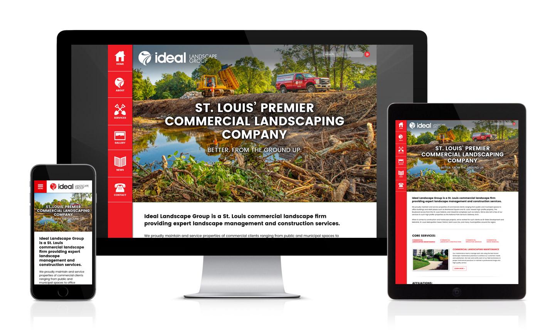 Ideal Landscape Group's New Website